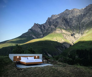 Alps, bed, and outdoors image