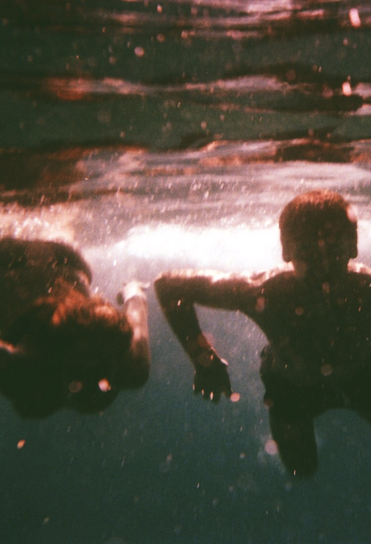 water, couple, and summer image