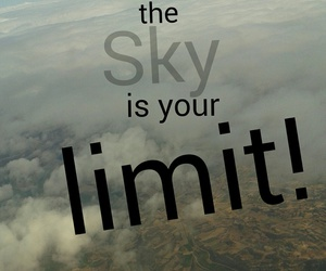 limit, sky, and στιχακια image