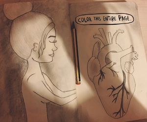anima, draw, and heart image