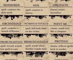 spells, harry potter, and magic image