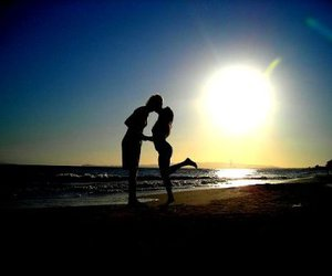beach and love image