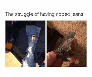 funny, jeans, and meme image