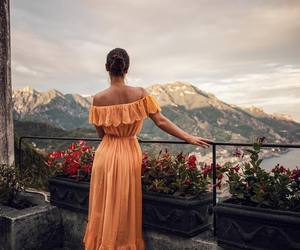 girl, dress, and travel image