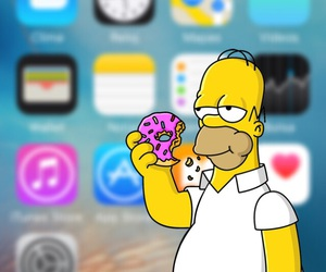background, wallpaper, and homero simpson image