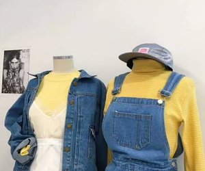 denim, fashion, and jumper image