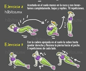 fitness, exercise, and rutina image
