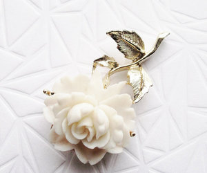brooch, girl, and romance image