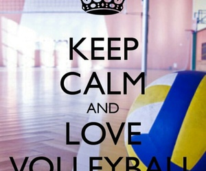 volleyball, keep calm, and sport image