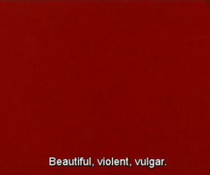 red, violent, and beautiful image