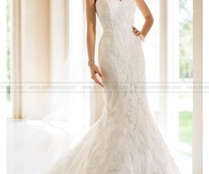 wedding dress, wedding, and wedding gowns image