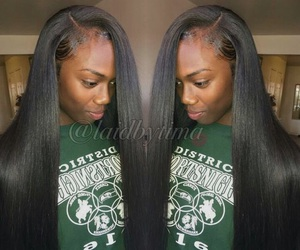 hair, laid, and weave image