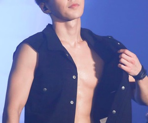 exo, xiumin, and abs image