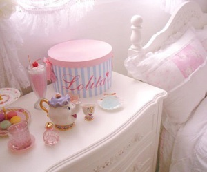 bedroom, kawaii, and pink image
