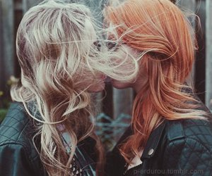 girl, kiss, and lesbian image