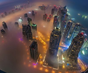 city, light, and Dubai image