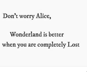 alice, alice in wonderland, and alone image