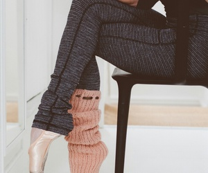 ballet, beautiful, and leg warmers image
