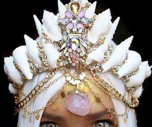 crown, mermaid, and jewelry image