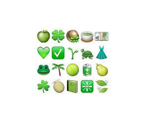green, kawaii, and emoji image