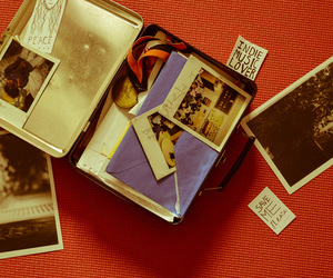 lunchbox, memories, and polaroid image