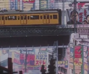 perfect blue, japan, and train image