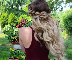 braid, amazing, and blonde hair image
