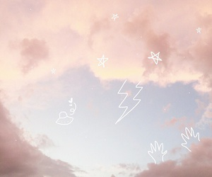sky, pastel, and pink image