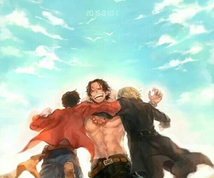 one piece, ace, and sabo image