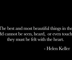 quotes, heart, and helen keller image
