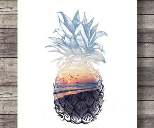 art, pineapple, and drawing image