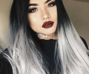 ombre wigs, uniwigs customer show, and grey wigs image