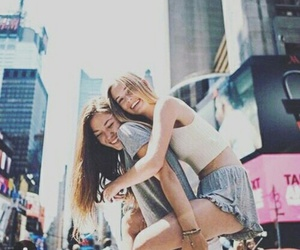 bffs, friendship, and long hair image