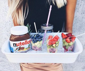nutella, food, and girl image