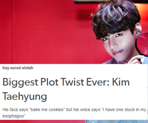 kpop, funny, and taehyung image