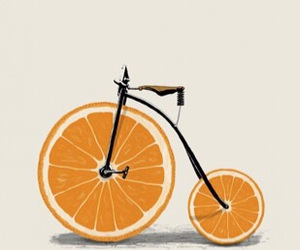 art, bike, and wheel image