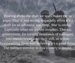 anti war, feminism, and military image