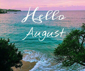 August, hello, and beach image