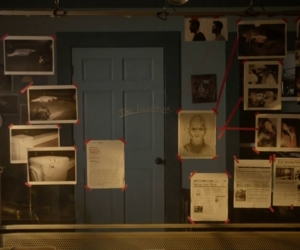 teen wolf, stiles, and murder board image