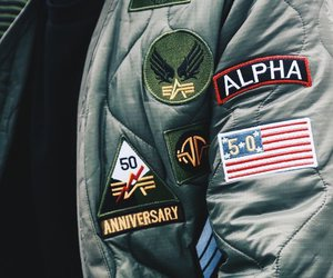alpha, jacket, and patches image