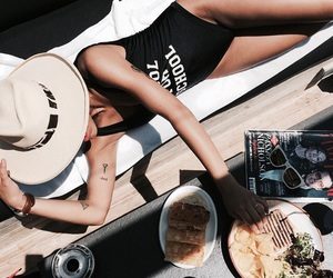 summer, girl, and food image