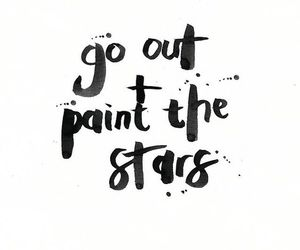 paint, go out, and stars image