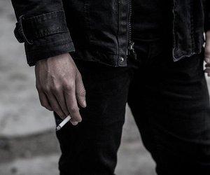 black and cigarette image
