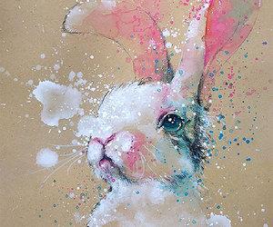 art, conejo, and rabbit image