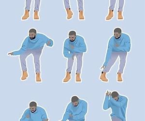 blue, cartoon, and Drake image