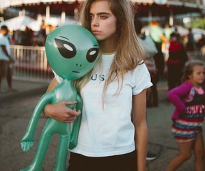 girl and alien image