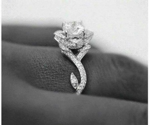 beautiful, rose, and engagement ring image