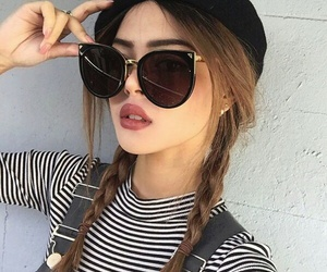 girl, beauty, and sunglasses image