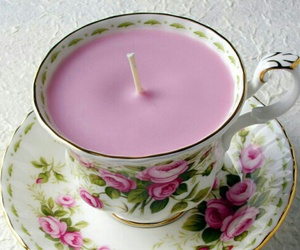 candle, diy, and pink image