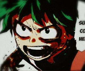 colored, manga, and deku image